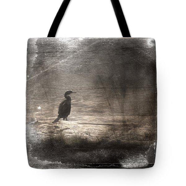 Lone Cormorant Tote Bag by Carol Leigh