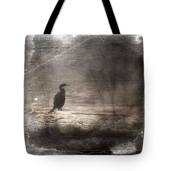Lone Cormorant Tote Bag by Carol Leigh