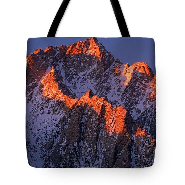 Lone Pine Peak Tote Bag by Inge Johnsson
