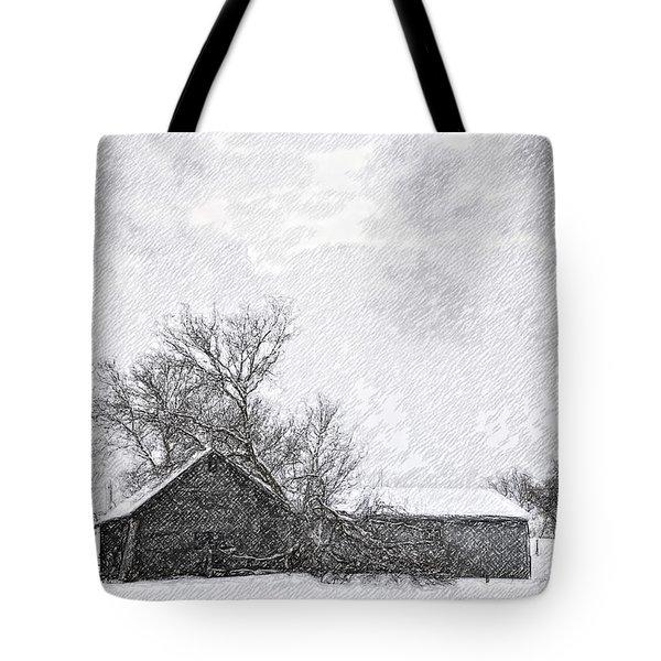 Loneliness Sketch Tote Bag by Steve Harrington
