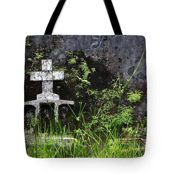 Lonely Grave Tote Bag by James Brunker