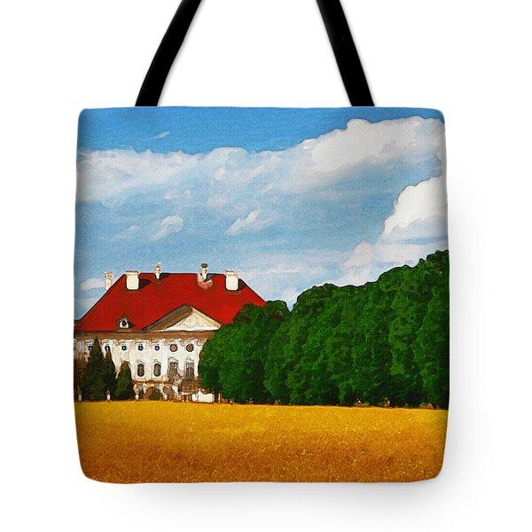 Lonely Mansion Tote Bag by Ayse Deniz