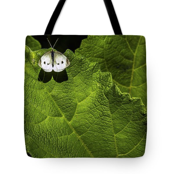 Lonely On A Leaf Tote Bag by Tim Buisman