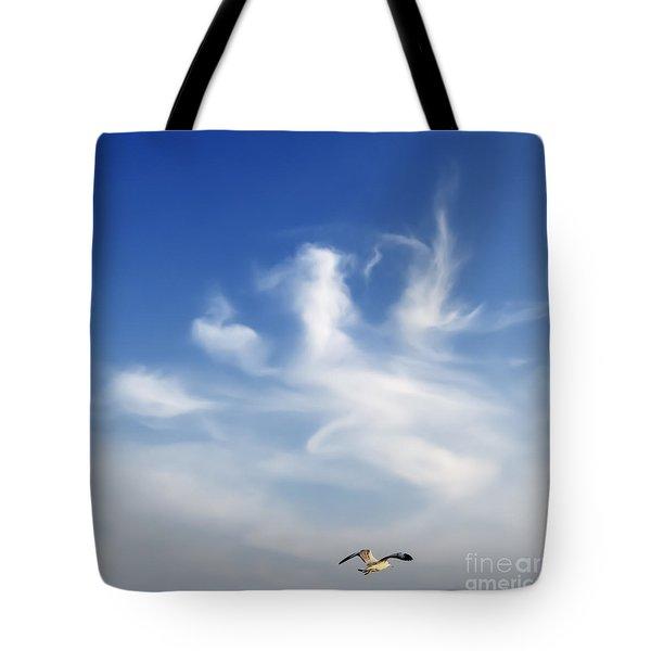 Lonely Seagull Tote Bag by Setsiri Silapasuwanchai