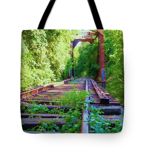 Lonesome Railroad #5 Tote Bag by Robert ONeil