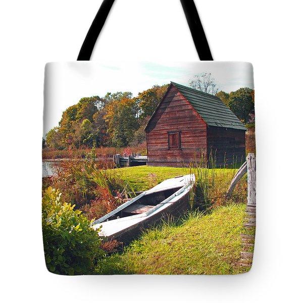 Long Ago Along The Marsh Tote Bag by Barbara McDevitt