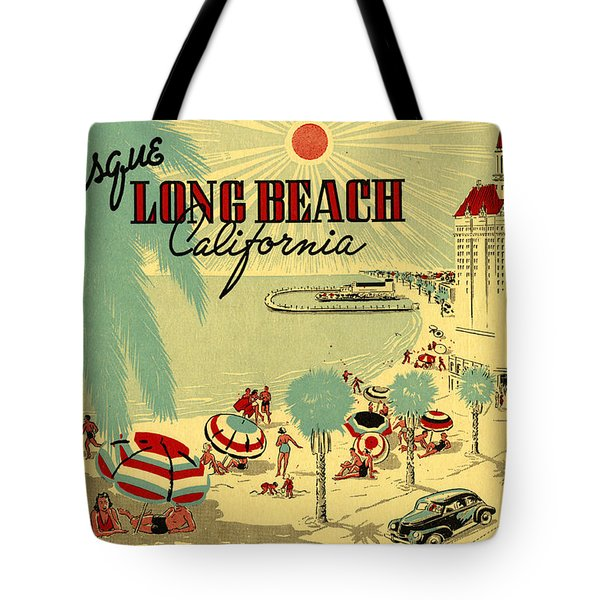 Long Beach 1946 Tote Bag by Georgia Fowler