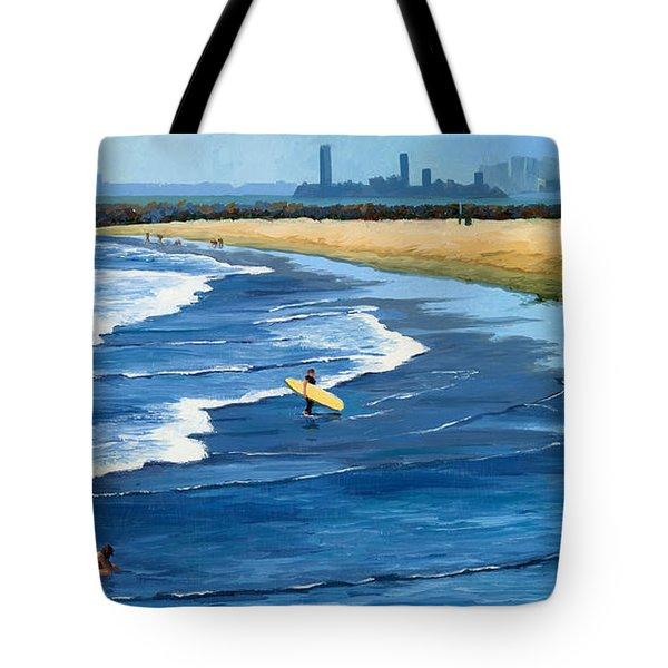 Long Beach California Tote Bag by Alice Leggett
