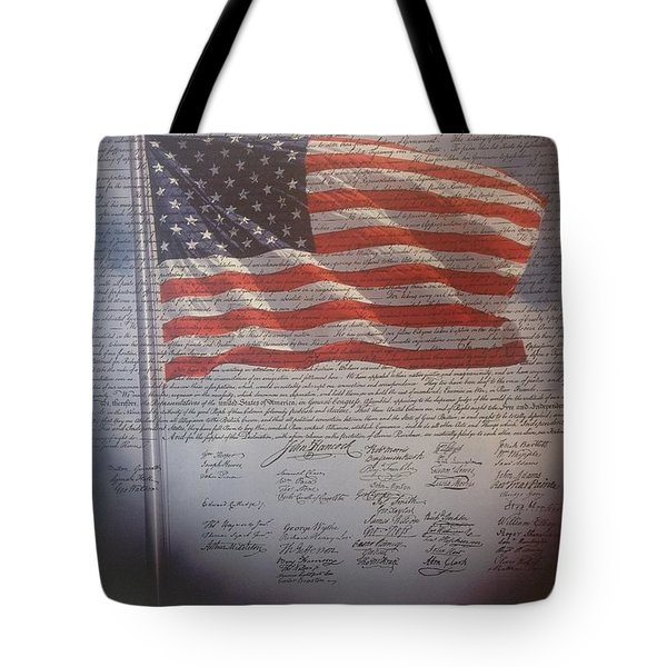 Long May She Wave Tote Bag by M and L Creations