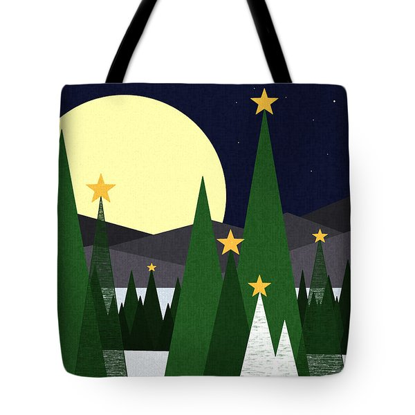 Long Night Moon Tote Bag by Val Arie