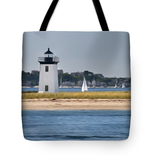 Long Point Light Tote Bag by Bill  Wakeley