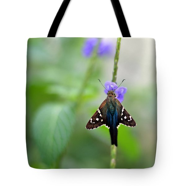 Long Tailed Skipper Tote Bag by Laura  Fasulo