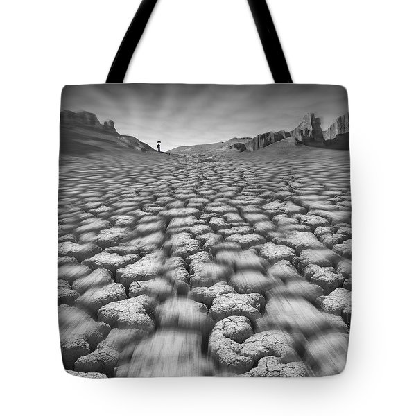 Long Walk On A Hot Day Tote Bag by Mike McGlothlen