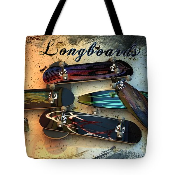 Longboards Tote Bag by Louis Ferreira