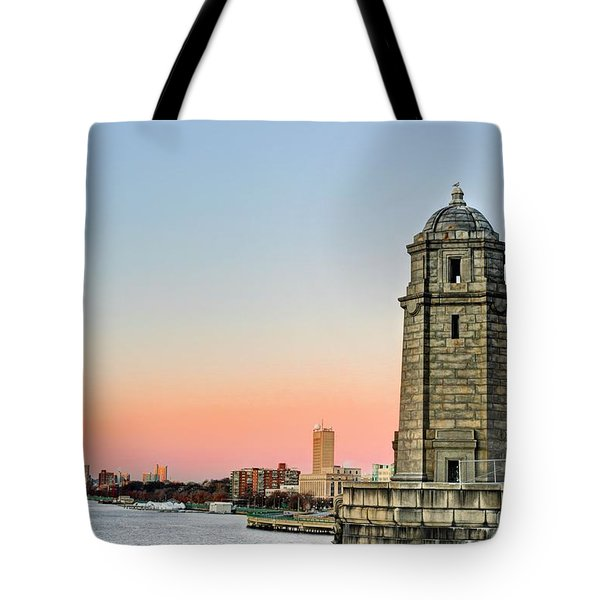 Longfellow Bridge Tower Tote Bag by JC Findley