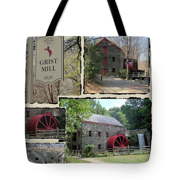 Longfellow's Grist Mill Tote Bag by Patricia Urato