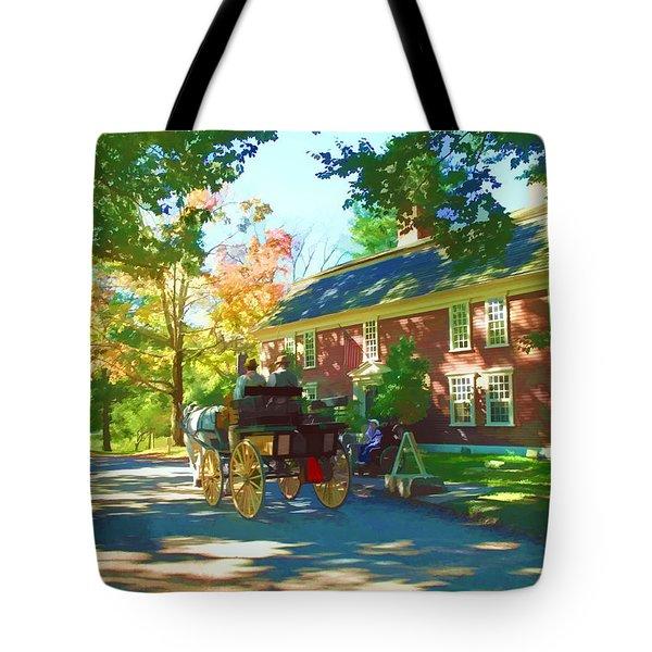 Longfellows Wayside Inn Tote Bag by Barbara McDevitt