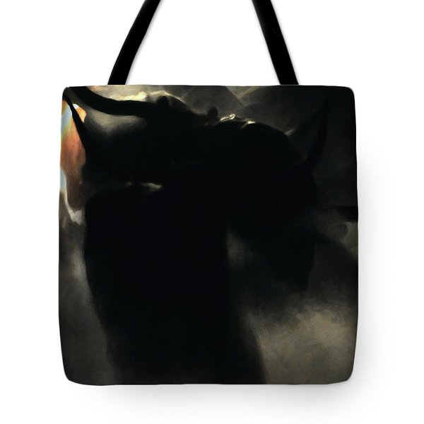 Longhorn Stampede Tote Bag by Wingsdomain Art and Photography