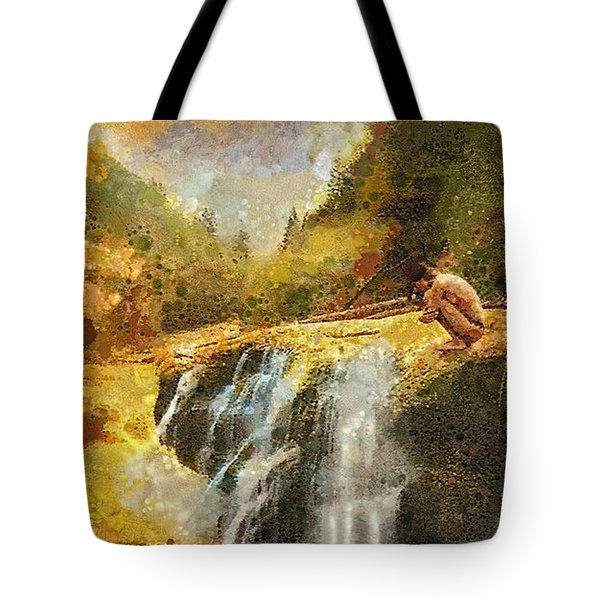 Longing Tote Bag by Mo T