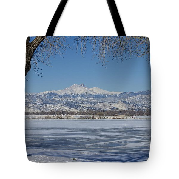 Longs Peaks Winter Landscape View Tote Bag by James BO  Insogna