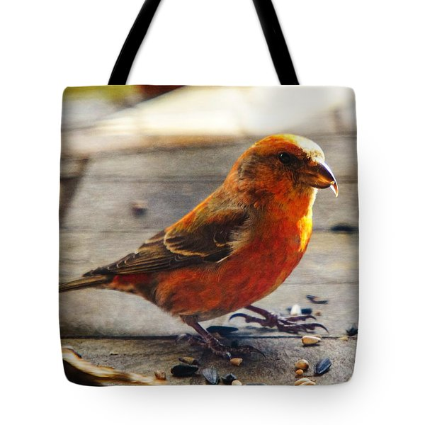 Look - I'm A Crossbill Tote Bag by Robert L Jackson
