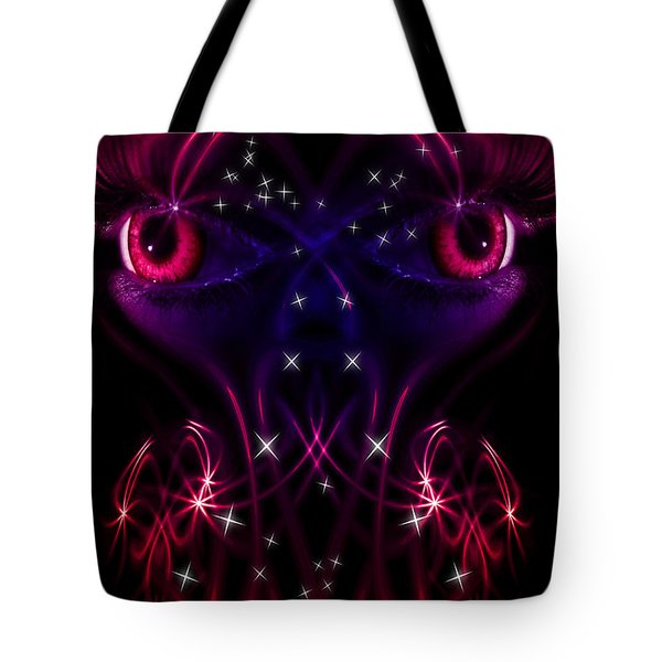 Look into my eyes Tote Bag by Nathan Wright