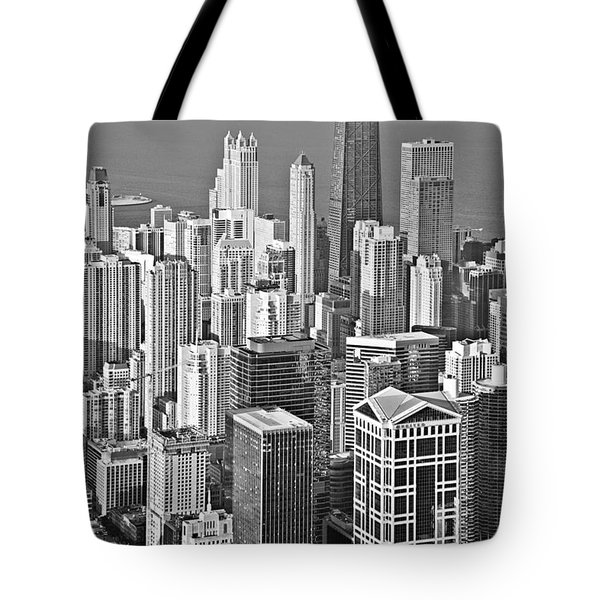 Looking Down At Beautiful Chicago Tote Bag by Christine Till