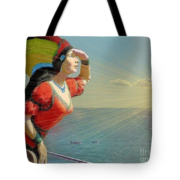 Looking For Land Tote Bag by Janette Boyd