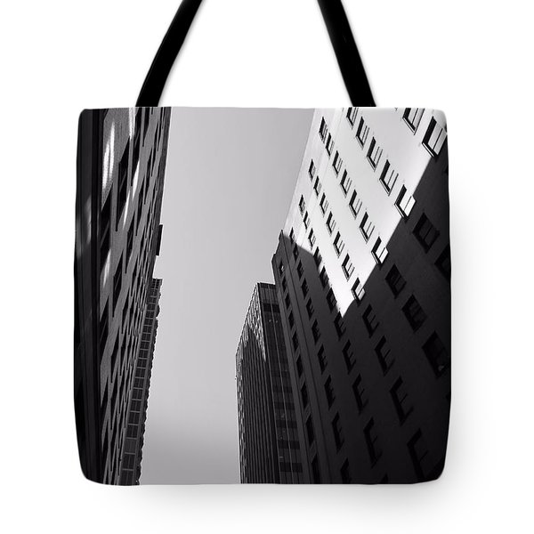 Looking Up In Nashville Black And White Tote Bag by Dan Sproul