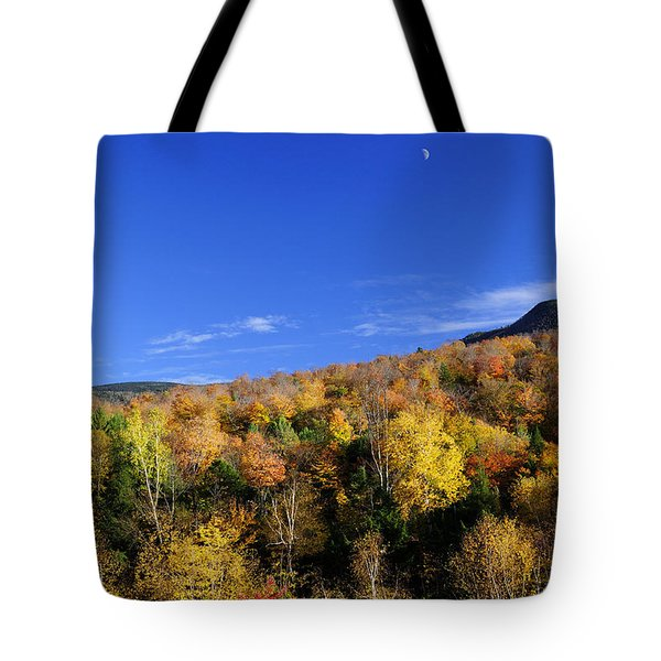 Loon Mountain Foliage Tote Bag by Luke Moore