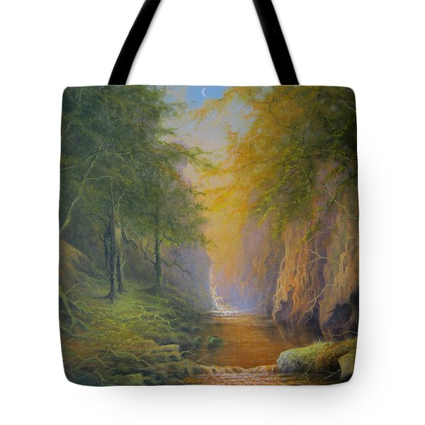 Lord Of The Rings Treebeard Merry And Pippin Tote Bag by Joe  Gilronan