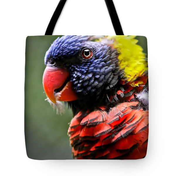 Lorikeet Bird Tote Bag by Athena Mckinzie