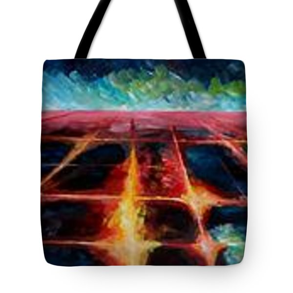 Los Angeles At Night From Mountains Tote Bag by M Bleichner