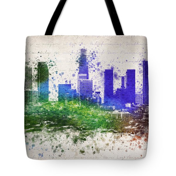 Los Angeles In Color  Tote Bag by Aged Pixel