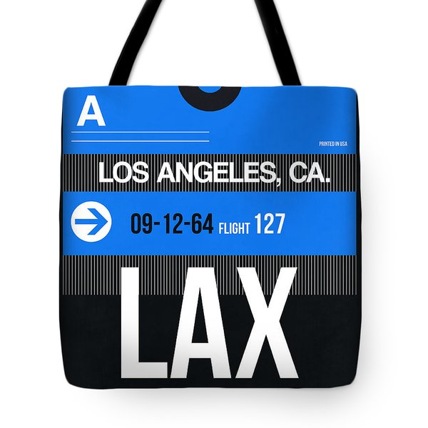 Los Angeles Luggage Poster 3 Tote Bag by Naxart Studio