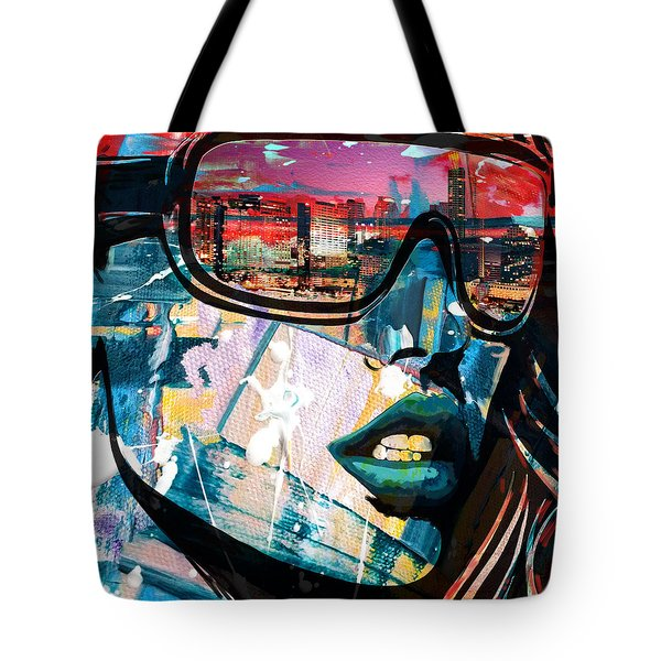 Los Angeles Skyline Tote Bag by Corporate Art Task Force