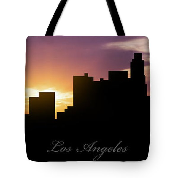 Los Angeles Sunset Tote Bag by Aged Pixel