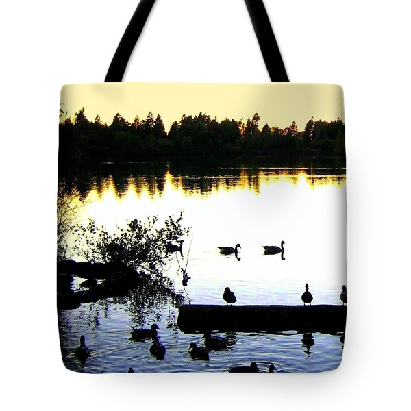 Lost Lagoon At Sundown Tote Bag by Will Borden