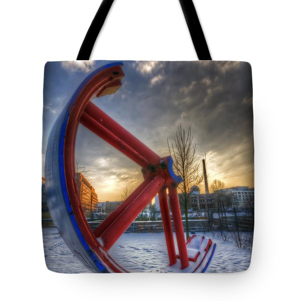 Lost Wheel Tote Bag by Nathan Wright
