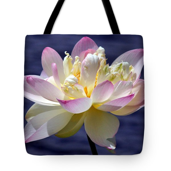 Lotus By The Lake Tote Bag by Gail Butler