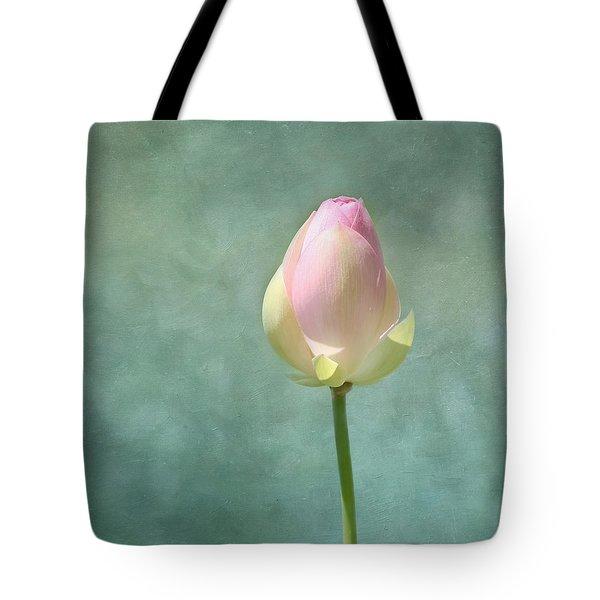 Lotus Flower Bud Tote Bag by Kim Hojnacki