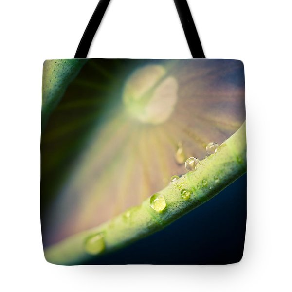 Lotus Leaf Unfurling Tote Bag by Priya Ghose