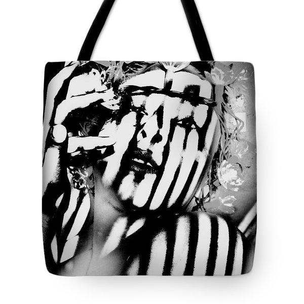 Lotus Lights Tote Bag by Jessica Shelton