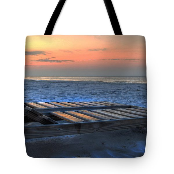Lounge Closeup On Beach ... Tote Bag by Michael Thomas