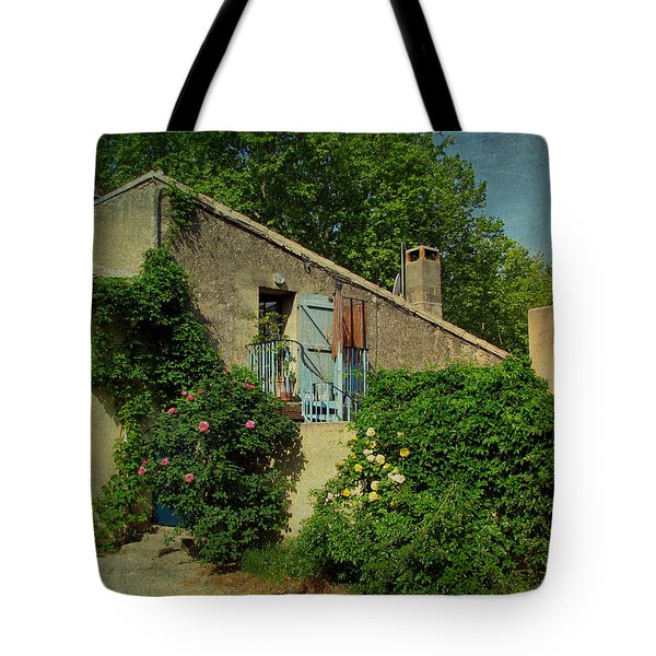 Lourmarin Cottage Tote Bag by Carla Parris