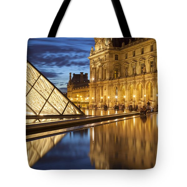 Louvre Reflections Tote Bag by Brian Jannsen