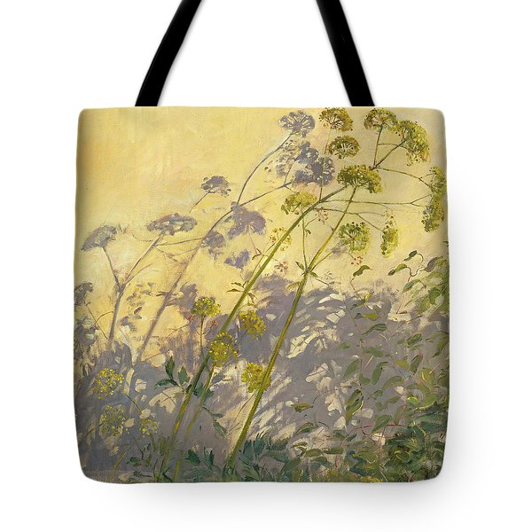 Lovage Clematis And Shadows Tote Bag by Timothy  Easton