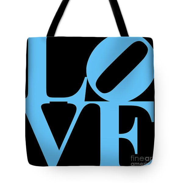 LOVE 20130707 Blue Black Tote Bag by Wingsdomain Art and Photography