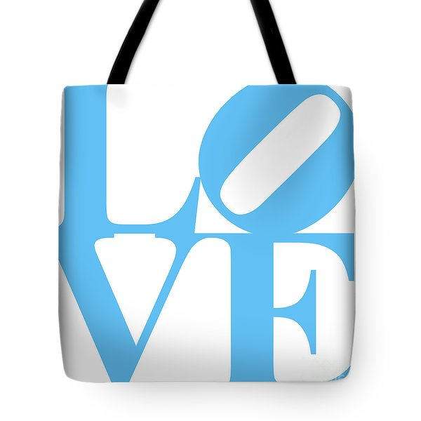 LOVE 20130707 Blue White Tote Bag by Wingsdomain Art and Photography