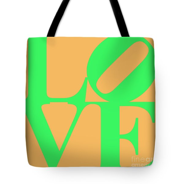 Love 20130707 Green Orange Tote Bag by Wingsdomain Art and Photography